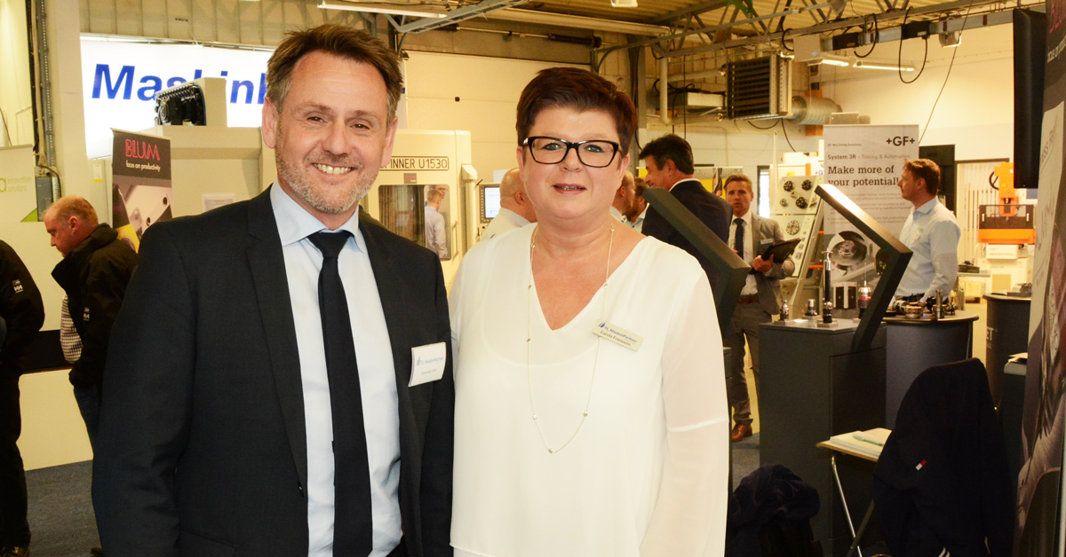 vd Flemming Hort och Carola Fransson på TL Maskinpartner är nöjda med årets expo.