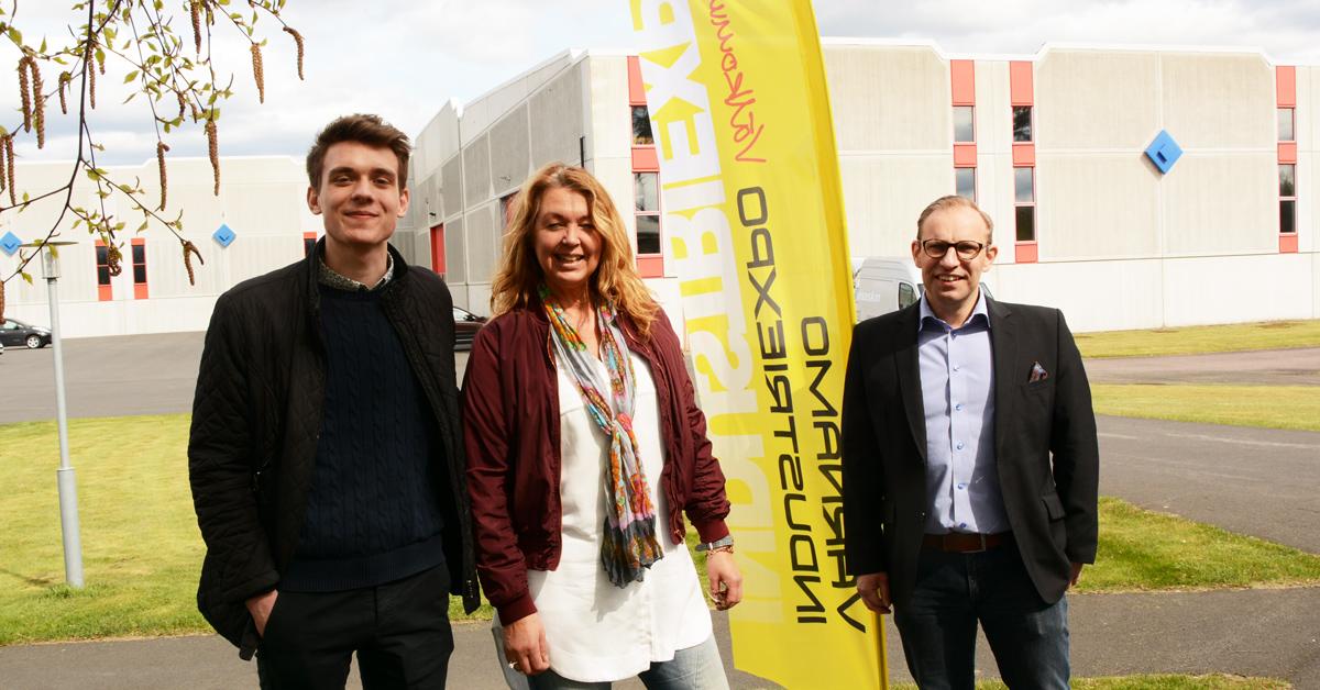 Philip Norin, Lotta Rosenqvist och Tobias Kruse på Norima är nöjda med årets expo.